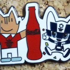 Pins de colección: PIN COBI BARCELONA 92 COCA COLA TOKYO 2020 MIRAITOWA MASCOTAS JJOO. Lote 278203763