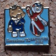 Pins de colección: PIN COBI BARCELONA 92 COCA COLA TOKYO MASCOTA JJOO & LONDON 2012. Lote 278203803