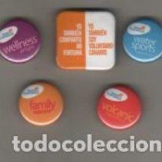 Pins de colección: LOTE DE 5 CHAPAS O PINS DE CANARIAS. Lote 279087433