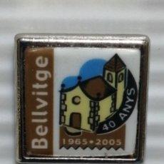Pins de colección: PIN 40 ANYS BELLVITGE. Lote 280129483