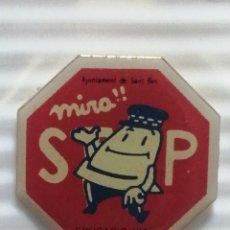 Pins de colección: PIN AJUNTAMENT DE SAN BOI STOP EDUCACIÓ VIAL. Lote 280130068