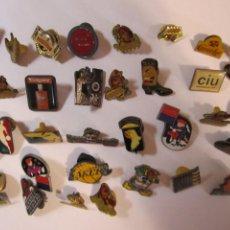 Pins de colección: LOTE 30 PINS VARIOS COLGATE MARBU NBA CACAOLAT CIU SMIRNOFF. Lote 287741578