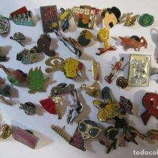 Pins de colección: LOTE MAS DE 40 PINS VARIOS INTERMON COCACOLA CAIXA PENEDES PEÑISCOLA. Lote 287774138