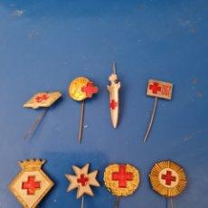 Pins de colección: 8 ALFILERES DE LA CRUZ ROJA. Lote 292327118