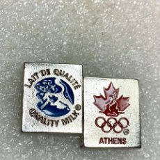 Pins de colección: 2061.PIN PUBLICITARIO OLIMPIADAS DE ATENAS 2004 (LECHE DE CALIDAD - QUALITY MILK). Lote 293525068