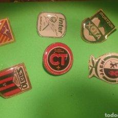Pins de colección: LOTE 6 PINS PIN FUTBOL SALA. Lote 294017798