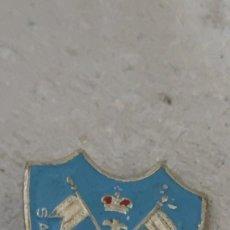 Pins de colección: PIN INSIGNIA ESCUDO SANTIAGO CIERRA A ESPAÑA. Lote 294980303
