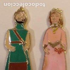 Pins de coleção: PIN - GEGANTS I NANOS / GIGANTES Y CABEZUDOS - PAREJA - METAL LACADO - ZARAGOZA ??. Lote 295492383