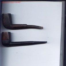 Pipas de fumar: 2 PIPAS DE COLECCION.CARAL (12 CMS)Y BRUNYLON (15 CMS). Lote 5393332