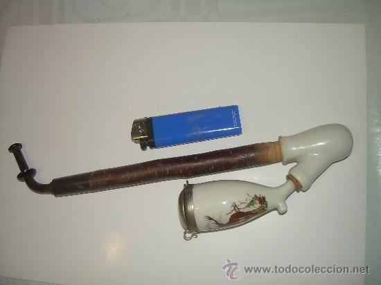 Pipas de fumar: ANTIGUA PIPA DE PORCELANA - Foto 4 - 152562596