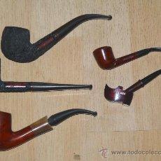 Pipas de fumar: 3 PRECIOSA PIPAS ELABORADAS EN LA EXTINTA FÁBRICA DE MASSANET DE CABRENYS.REGALO 2 PIPAS PEQUEÑAS. Lote 128881988