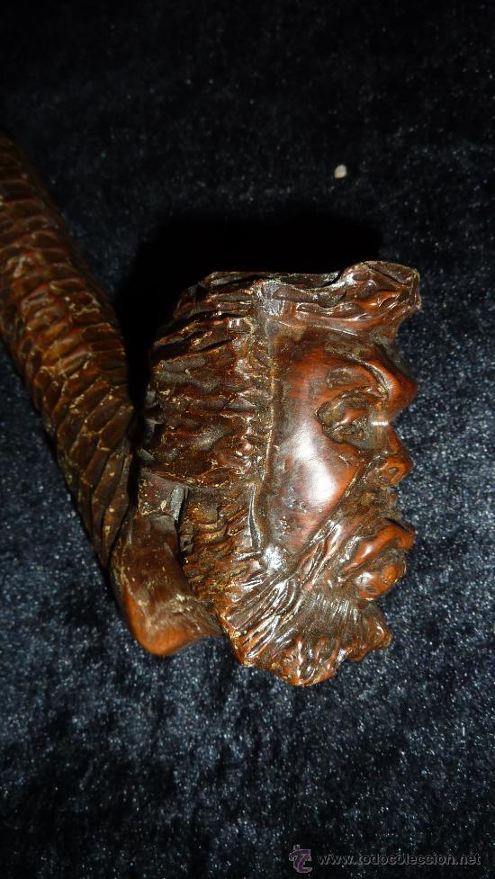 Pipas de fumar: Antigua pipa de fumar en madera tallada, años 50s. - Foto 2 - 29874016