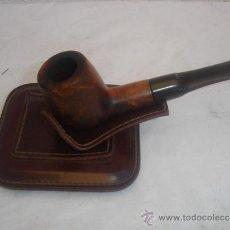 Pipas de fumar: PIPA CO SOPORTE DE CUERO. Lote 30942721