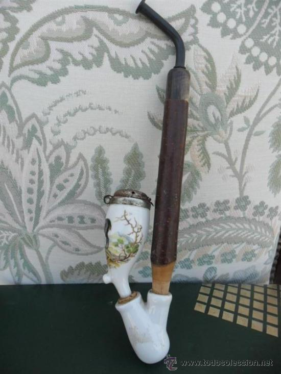 Pipas de fumar: cachinba de asta y porcelana - Foto 2 - 38579253
