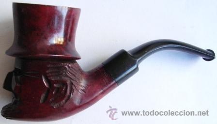 Pipas de fumar: Antigua pipa italiana, cabeza tallada, imperdible y completa. - Foto 2 - 40159171