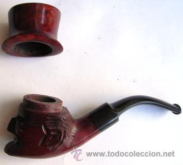 Pipas de fumar: Antigua pipa italiana, cabeza tallada, imperdible y completa. - Foto 3 - 40159171