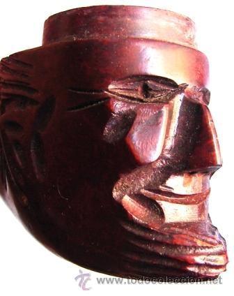 Pipas de fumar: Antigua pipa italiana, cabeza tallada, imperdible y completa. - Foto 4 - 40159171