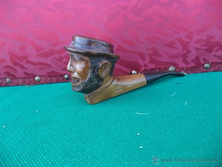 PIPA CABEZA TALLADA (Coleccionismo - Objetos para Fumar - Pipas)