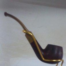 Pipas de fumar: PIPA DE FUMAR ''ARB, LINES ENGLAND'' CON SOPORTE SALVARELLA. Lote 48872619
