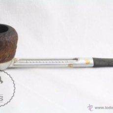 Pipe per fumare: PIPA PARA FUMAR DE METAL Y MADERA TALLADA - FALCON. FD 5 - FABRICADA EN INGLATERRA - LONGITUD 15 CM. Lote 51516560