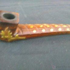 Pipas de fumar: PIPA CON INCRUSTACIONES EN BRONCE. Lote 52461479