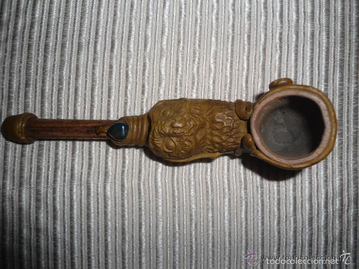 Pipas de fumar: ANTIGUA PIPA CON FORMA DE BUHO - Foto 2 - 55160963