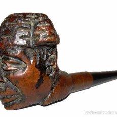 Pipas de fumar: PIPA ANTIGUA DE MADERA TALLADA-TORERO. Lote 23740634
