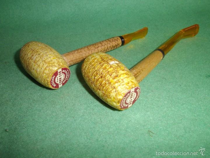 Pipas de fumar: Lote pipa mazorca maíz Missouri CORN COB USA madera coleccion vintage - Foto 2 - 56190109