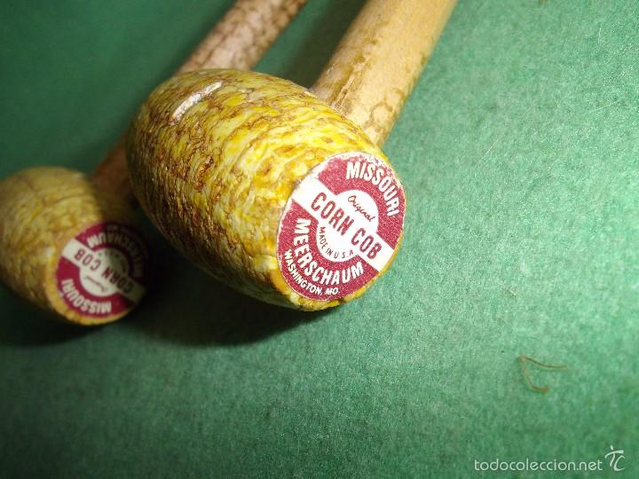 Pipas de fumar: Lote pipa mazorca maíz Missouri CORN COB USA madera coleccion vintage - Foto 3 - 56190109