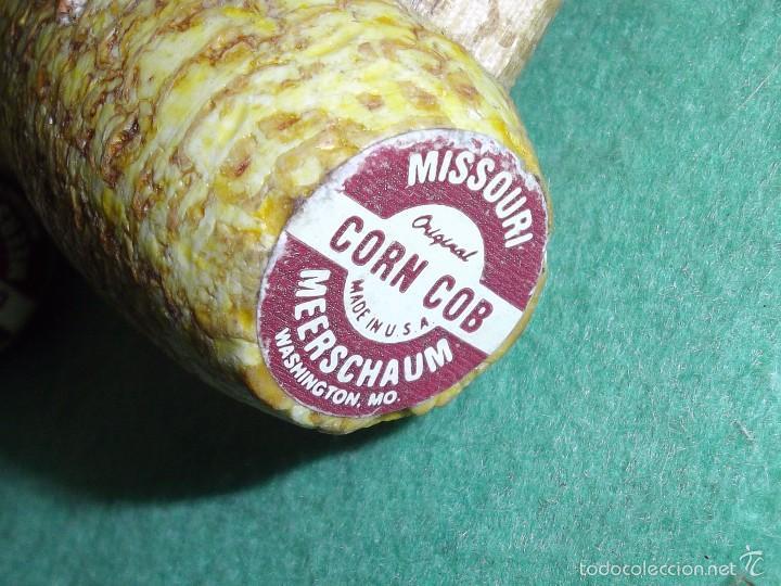 Pipas de fumar: Lote pipa mazorca maíz Missouri CORN COB USA madera coleccion vintage - Foto 4 - 56190109