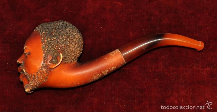 IMPORTANTE PIPA EN ESPUMA DE MAR DEL ÚLTIMO TERCIO DEL SIGLO XIX. J. SUMMER PARIS (Coleccionismo - Objetos para Fumar - Pipas)