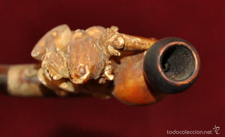 Pipas de fumar: PIPA EN ESPUMA DE MAR DEL SIGLO XIX CON SU FUNDA CORRESPONDIENTE - Foto 5 - 58686785