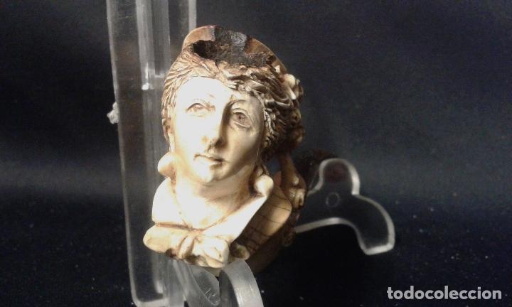 Pipas de fumar: Pipa. Espuma de mar - Sepiolita. Busto mujer. Siglo XIX. - Foto 4 - 69633457