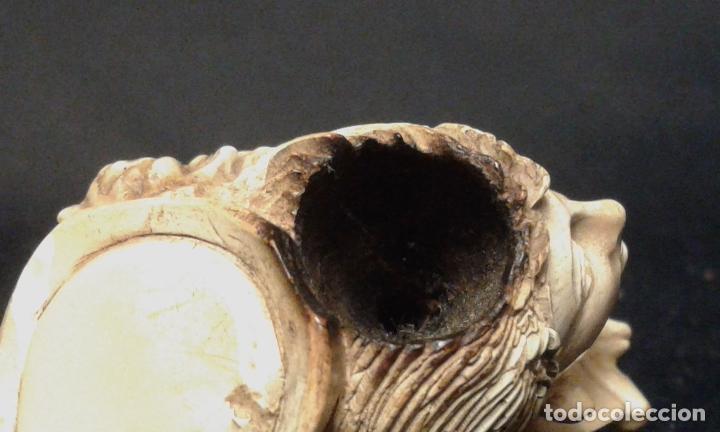 Pipas de fumar: Pipa. Espuma de mar - Sepiolita. Busto mujer. Siglo XIX. - Foto 14 - 69633457