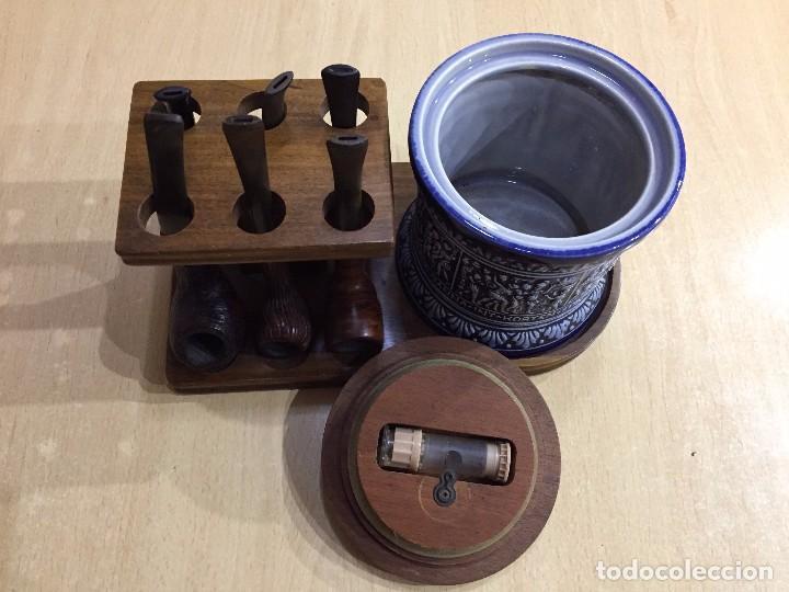 JUEGO DE TABACO CON SEIS PIPAS (Coleccionismo - Objetos para Fumar - Pipas)