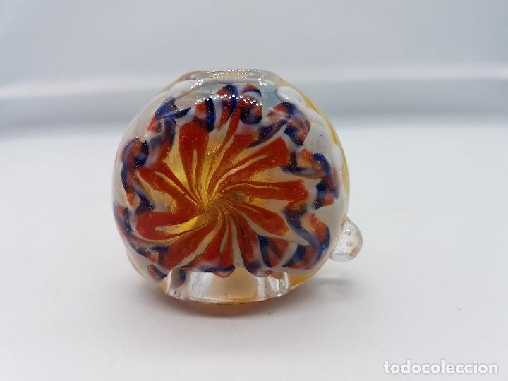 Pipas de fumar: Preciosa pipa para fumar fabricada a mano en cristal de murano de tonos rojos y amarillos. - Foto 4 - 86628624