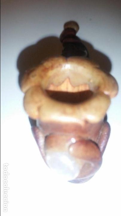 Pipas de fumar: Pipa de barro con piedras duras. México. - Foto 3 - 88874928