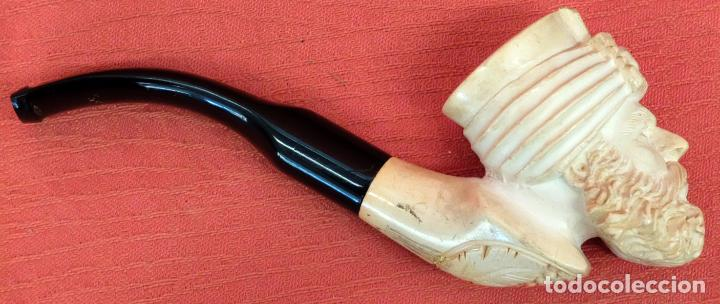 Pipas de fumar: ANTIGUA PIPA EN ESPUMA DE MAR DEL ÚLTIMO TERCIO DEL SIGLO XIX - Foto 2 - 91794910
