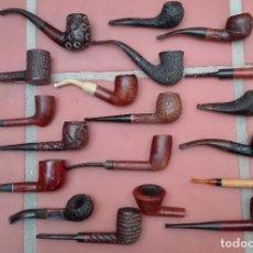 Pipas de fumar: COLECCION PIPAS CLIPPER BIG-BEN DE-MAR ALCAZAR EVEREST STUBS KRIS WILL BAMBOO BRIAR MASTERLY DUN-KIN. Lote 93297185