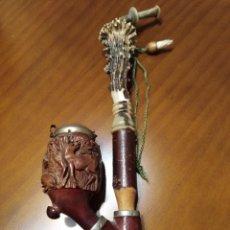 Pipas de fumar: ANTIGUA PIPA DE LA FIRMA BRUYERE CON MANGO DE ASTA. Lote 103897963