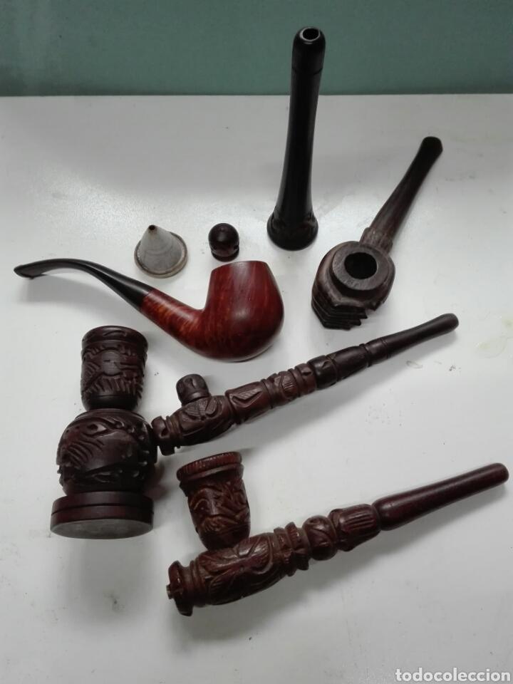 LOTE DE PIPAS Y ACCESORIOS (Coleccionismo - Objetos para Fumar - Pipas)