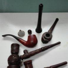 Pipas de fumar: LOTE DE PIPAS Y ACCESORIOS. Lote 114854055