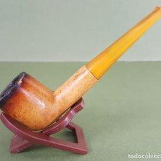 Pipas de fumar: PIPA PARA FUMAR. ESPUMA DE MAR. BOQUILLA SIMIL ÁMBAR. CIRCA 1970. . Lote 117023495