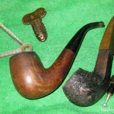 Pipas de fumar: LOTE 2 PIPA FUMADOR . CLIPERWELL - SINAI Y ACCESORIOS 1 PIPE REAMER BBB. Lote 126823231