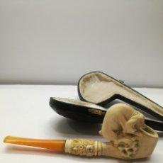 Pipas de fumar: ORIGINAL PIPA DE ESPUMA DE MAR Y AMBAR. Lote 129250224