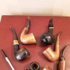 Pipas de fumar: LOTE 6 PIPAS - MASTRO PAJA - HILSON GIANT - UNIQUE - FALCON - HELIO FERETTI - SALVATELLA. Lote 129956631