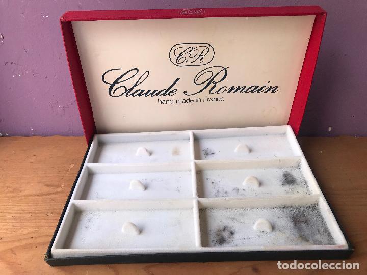 CAJA VACIA DE EXPOSICION DE PIPAS CLAUDE ROMAIN (Coleccionismo - Objetos para Fumar - Pipas)