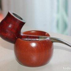 Pipas de fumar: PIPA EVEREST ASTOR CON SOPORTE DE MADERA.14,5 L X 4 ALT CAZOLETA, HORNILLO 2 CM. INF. 11 FOTOS.. Lote 131857902