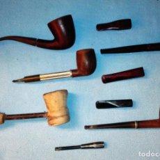 Pipas de fumar: LOTE DE PIPAS Y BOQUILLAS ANTIGUAS MARCA BEHA ERICA YORK ETC VER FOTOS Y DESCRIPCION. Lote 137540466