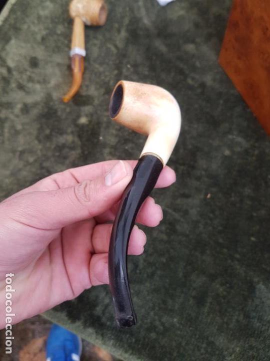 BONITA Y ANTIGUA PIPA DE ESPUMA DE MAR (Coleccionismo - Objetos para Fumar - Pipas)